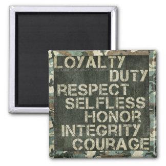 A soldier's values magnet