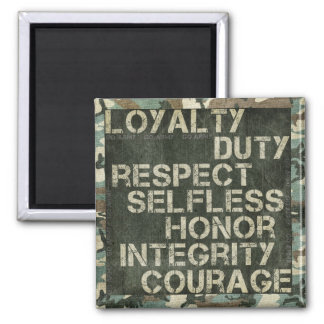 A soldier's values magnets