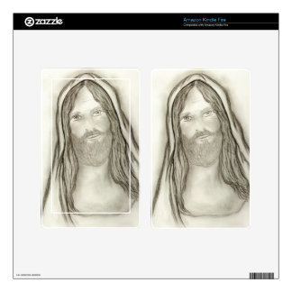 A Solemn Jesus Decals For Kindle Fire