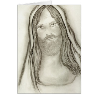 A Solemn Jesus Greeting Card