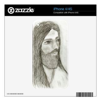 A Solemn Jesus II Decal For iPhone 4S