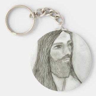 A Solemn Jesus II Basic Round Button Keychain