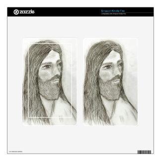 A Solemn Jesus II Kindle Fire Decal