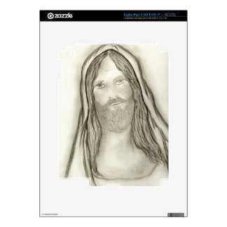 A Solemn Jesus Skins For iPad 3