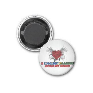 A Solomon Islander Stole my Heart 1 Inch Round Magnet
