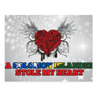 A Solomon Islander Stole my Heart Postcard