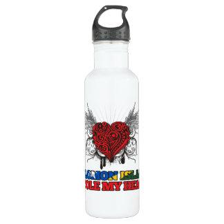 A Solomon Islander Stole my Heart Water Bottle