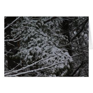 A Somber Scene Of Winter Card