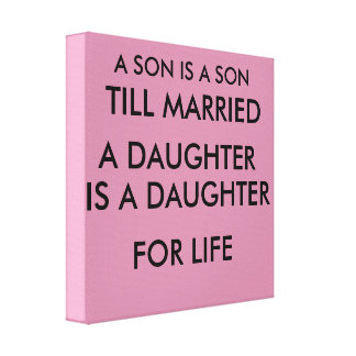 A SON AND DAUGHTER CANVAS
