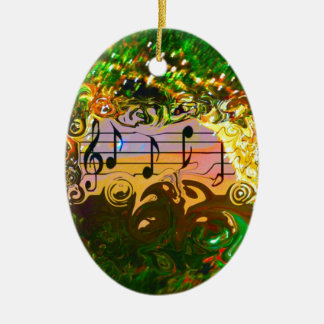 A Song Came to Mind Ceramic Ornament