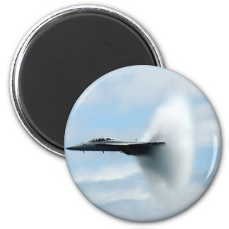 A Sonic Boom 2 Inch Round Magnet