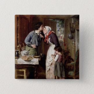 A Son's Devotion, 1868 (oil on canvas) Button