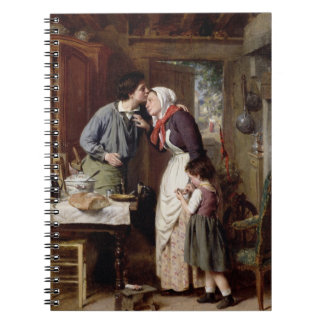A Son's Devotion, 1868 (oil on canvas) Notebook