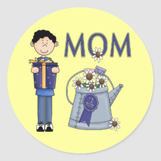 A Sons Wish For Mum Classic Round Sticker