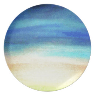 A soothing display of soft pastel colors decor melamine plate