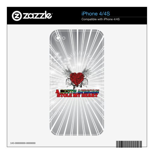 A South African Stole my Heart iPhone 4 Decal