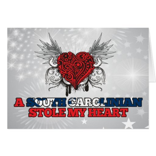 A South Carolinian Stole my Heart Greeting Card