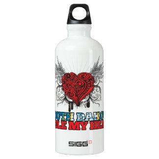 A South Dakotan Stole my Heart Aluminum Water Bottle