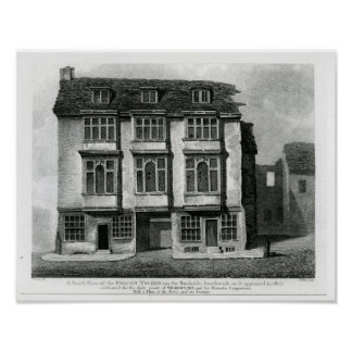 A South View of the Falcon Tavern Poster