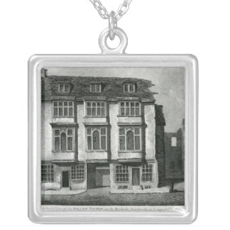 A South View of the Falcon Tavern Silver Plated Necklace