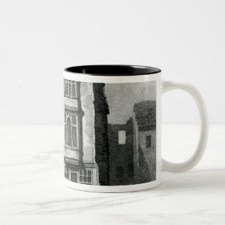 A South View of the Falcon Tavern Two-Tone Coffee Mug