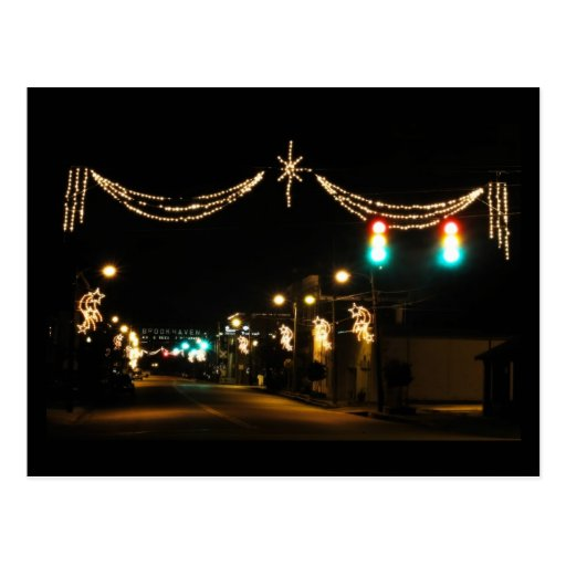 A Southern Mississippi Town Christmas Postcard