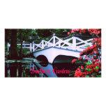 A Southern Plantation Garden Custom Photo Card