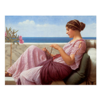 A Souvenir - John William Godward Postcard