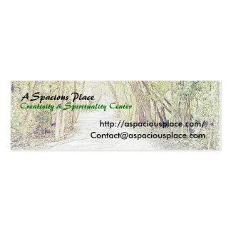 A Spacious Place Profile Card Mini Business Card