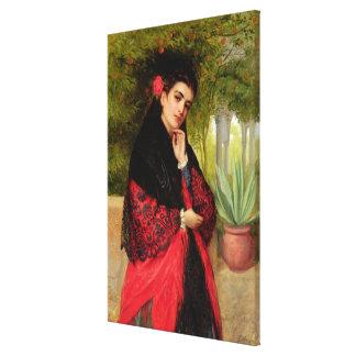 A Spanish Beauty, 1872 (oil on canvas) Canvas Print