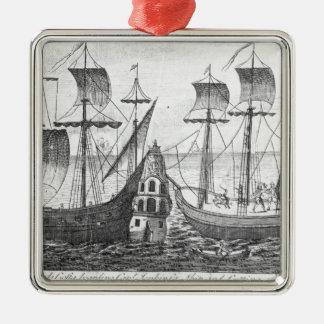 A Spanish 'Guarda Costa' Metal Ornament