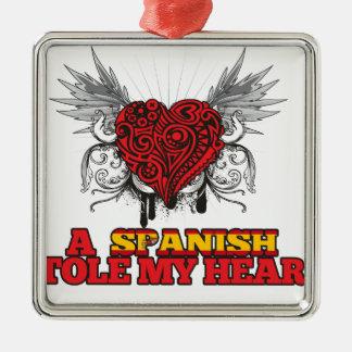 A Spanish Stole my Heart Christmas Ornament