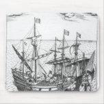 A Spanish Treasure Ship Mouse Pad