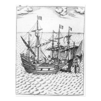 A Spanish Treasure Ship Postcard
