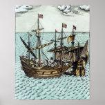 A Spanish Treasure Ship Print
