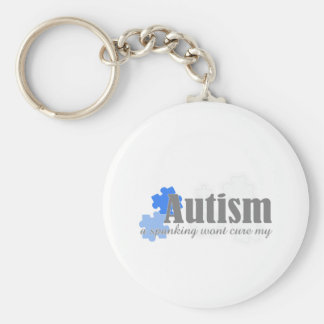 a spanking wont cure my autism basic round button keychain