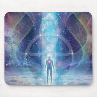 """""""A Spark of the Creator"""" - Trinity Mouse Pad"""
