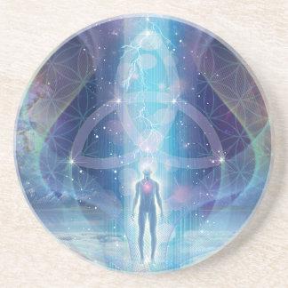 """A Spark of the Creator"" - Trinity Sandstone Coaster"