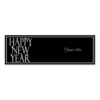 A Sparkling Happy New Year Double-Sided Mini Business Cards (Pack Of 20)