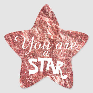 A Sparkly Star You Are in Pink Star Sticker