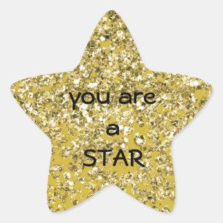 A Sparkly Star You Are Star Sticker
