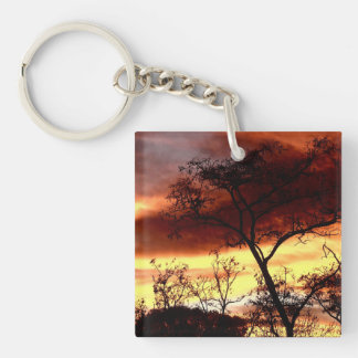 A special Evening Double-Sided Square Acrylic Keychain