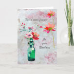 """A Special Friend Beautiful Floral Birthday Card<br><div class=""""desc"""">Beautiful birthday card for a special friend; lovely to look out with watercolor flowers and a soft textured background. Gentle, colorful and cheerful -- it will be much appreciated. If you are thinking of giving a small party for this special friend, matching items are available in my store: CHARM DESIGN...</div>"""
