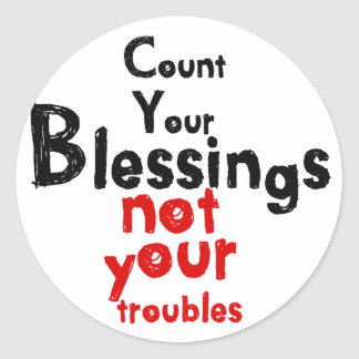A special message each day classic round sticker