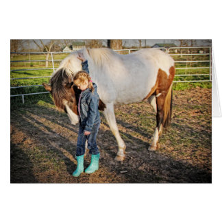 A Special Moment -- Girl and Horse Birthday card