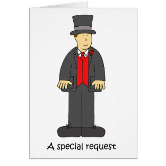 A special request top hat and tails. card