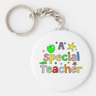 A Special Teacher Basic Round Button Keychain