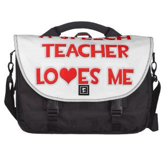 A Speech Teacher Loves Me Commuter Bag