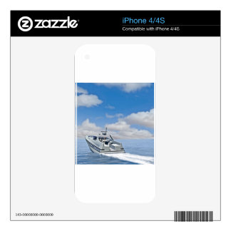 A Speedboat Racing away into the distance Skin For iPhone 4S