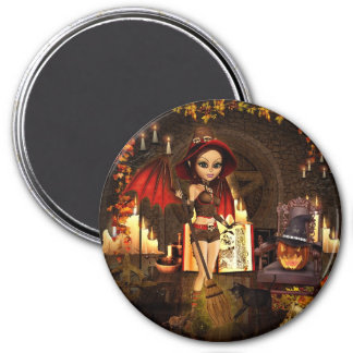 A Spell or Two Magical Witch Round Magnet